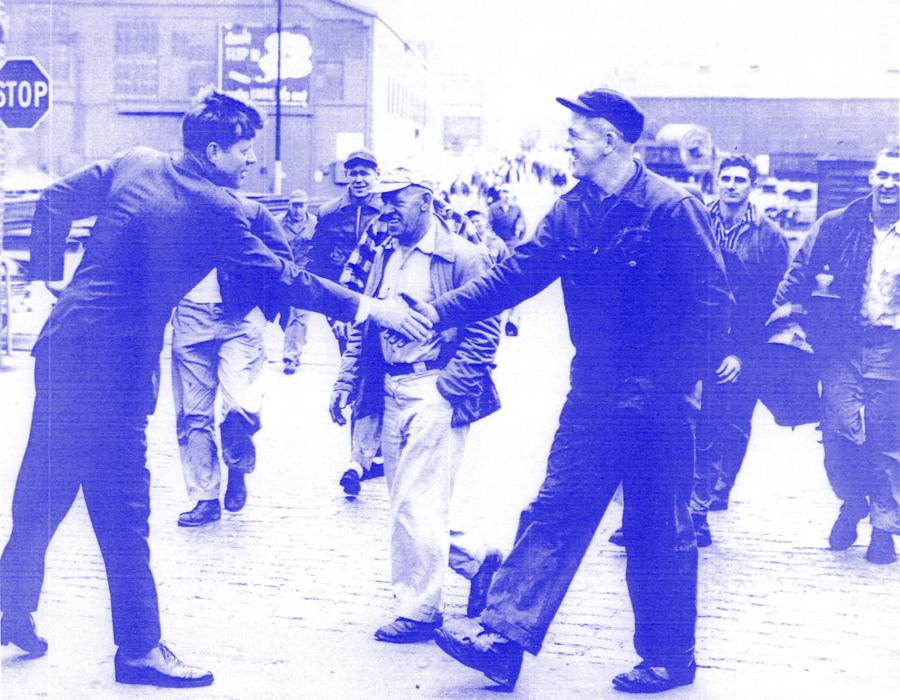 June 1, 1958 jfk john kennedy shipworkers campaigning 1958