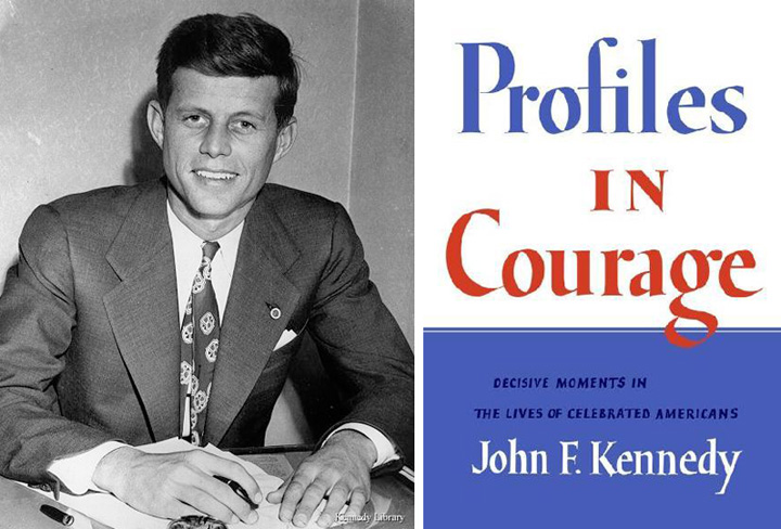 JFK cover of his book and winner of Pulizter Prize for biography Profiles in Courage