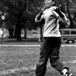 JFK John F. Kennedy youth catching football