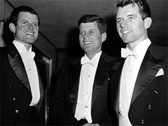 JFK brothers Bobby Kennedy Ted Kennedy 1958 gridiron dinner