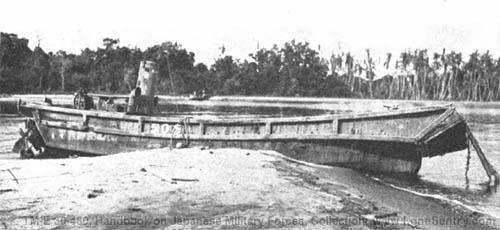 Japanese army barge daihatsu model world war 2