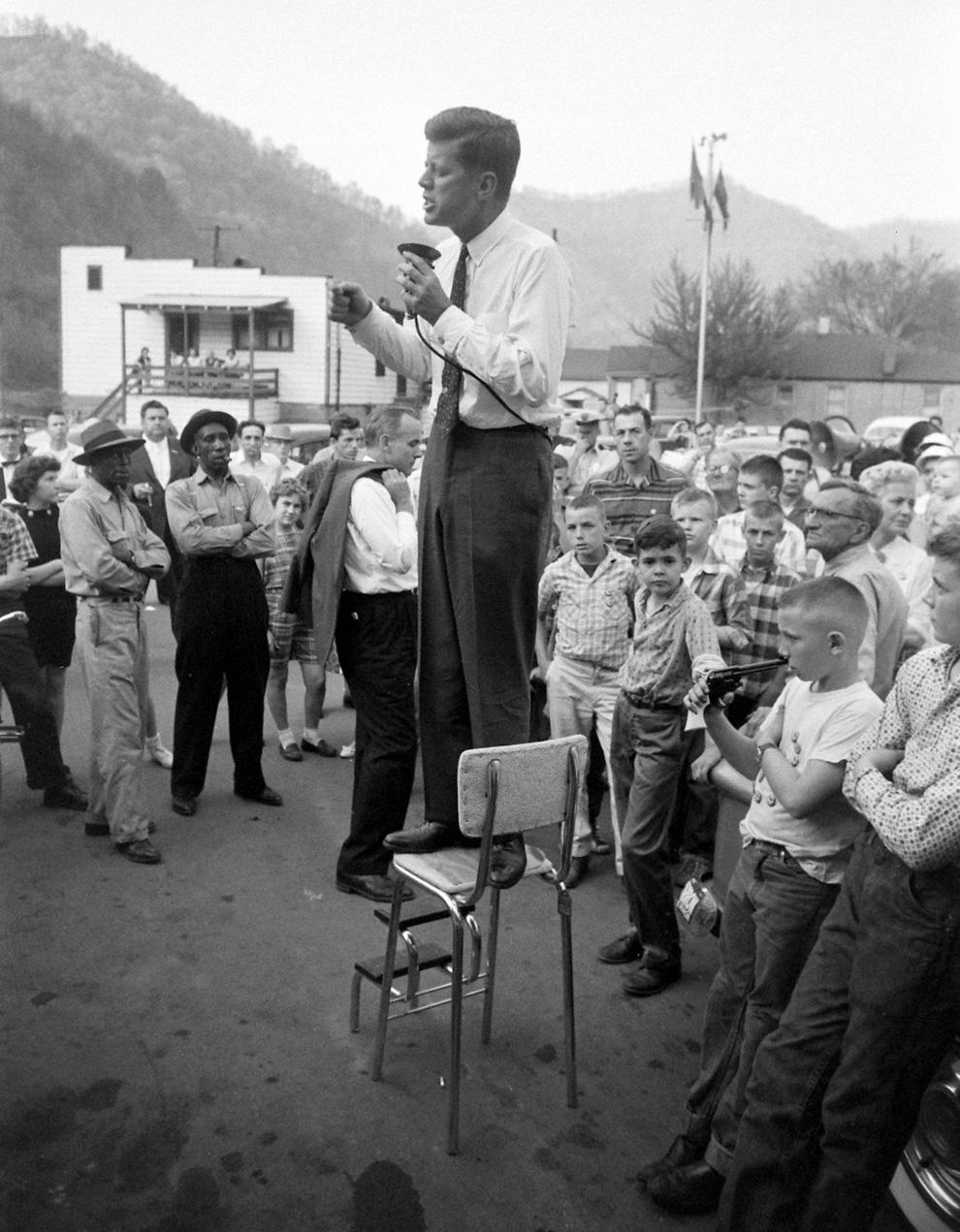 April 25, 1960 JFK in Logan County