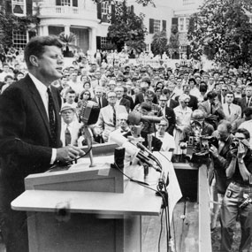 August 14, 1960 JFK Hyde Park Social Security talk